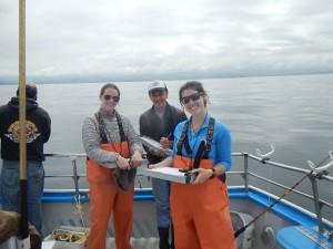Half Moon Bay science crew recording data