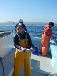 Danielle helping us out in Monterey Bay